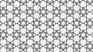 Grey Star Background Pattern