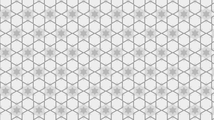 Light Grey Seamless Stars Pattern