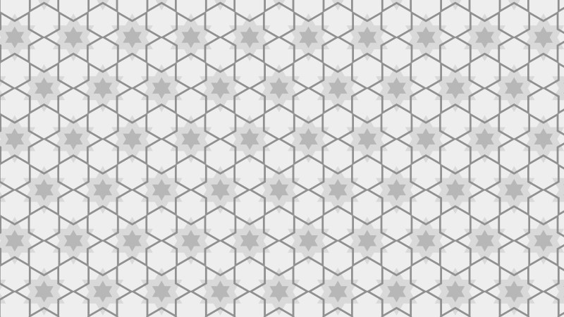 Light Grey Seamless Stars Pattern