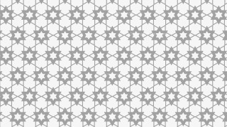 Light Grey Seamless Stars Pattern Background