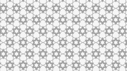 Light Grey Seamless Stars Pattern Background