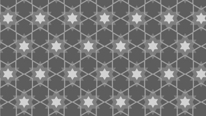 Grey Star Pattern Design
