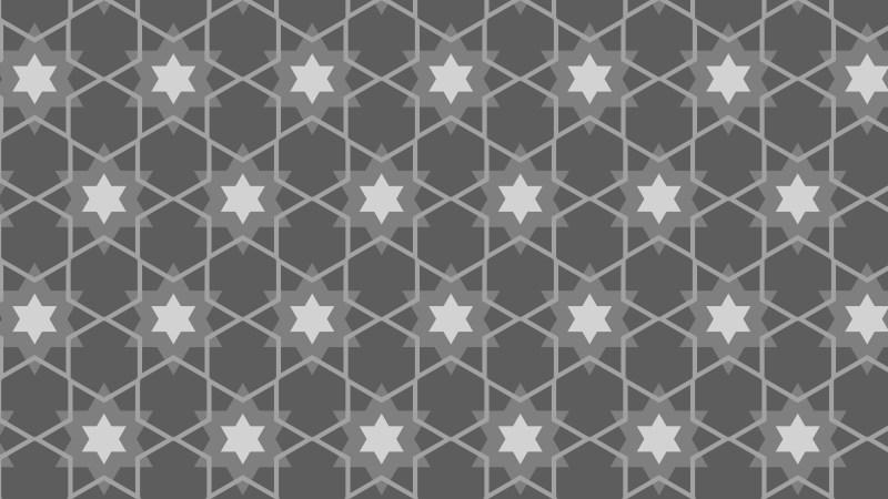 Grey Star Pattern Design