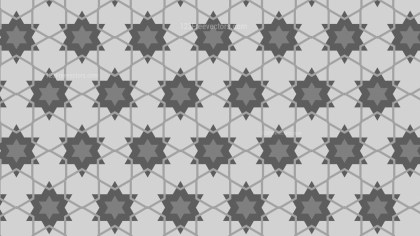 Grey Star Background Pattern Vector Graphic