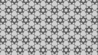 Grey Seamless Star Pattern Vector Image