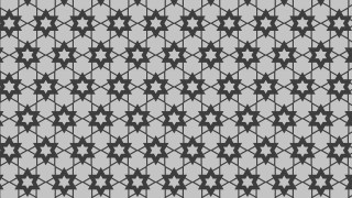 Grey Seamless Star Background Pattern Vector Illustration