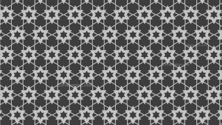 Dark Grey Stars Pattern Vector