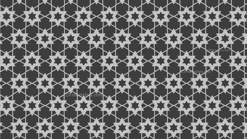 Dark Grey Stars Pattern Vector