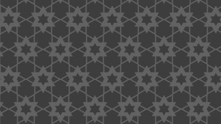 Dark Grey Stars Background Pattern Graphic