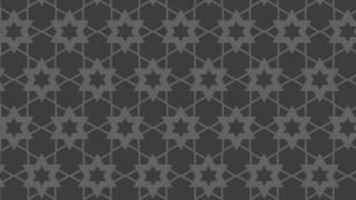 Dark Grey Stars Background Pattern Graphic