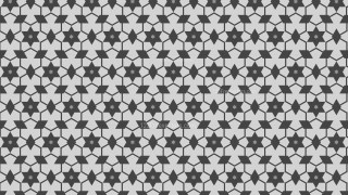 Grey Seamless Stars Pattern Background Design