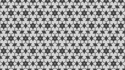 Grey Seamless Stars Pattern Background Design
