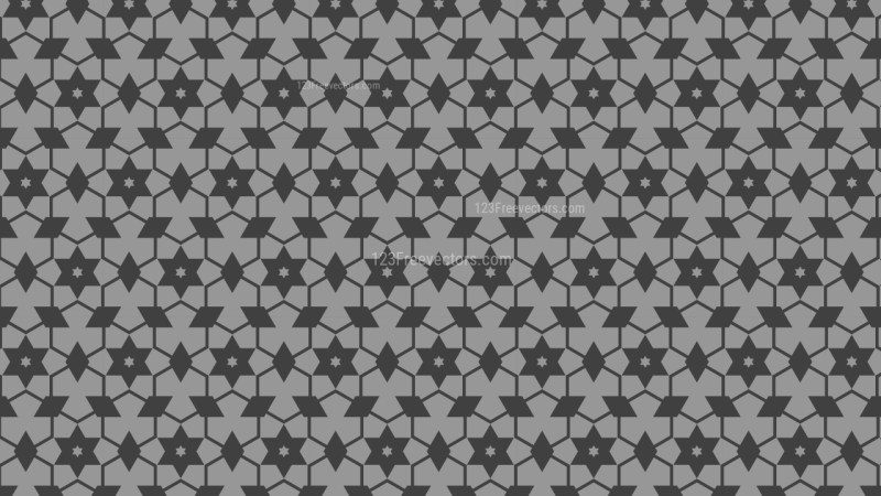 Dark Grey Star Background Pattern