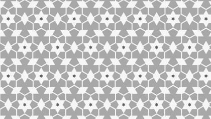Grey Seamless Star Pattern Background