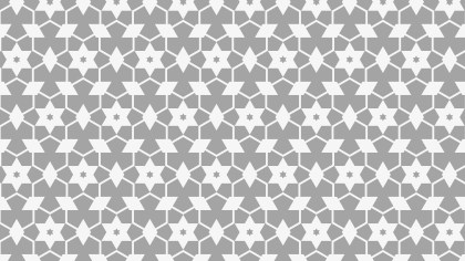 Grey Seamless Star Background Pattern