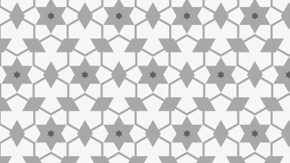 Grey Stars Pattern Background