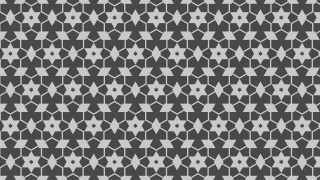 Dark Grey Seamless Stars Pattern