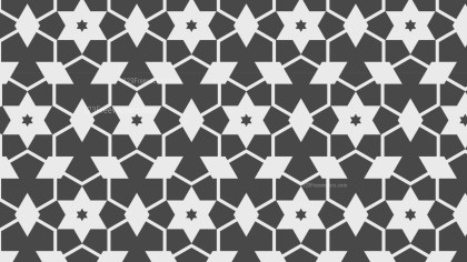 Grey Seamless Stars Pattern Background