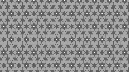 Grey Star Pattern Illustrator