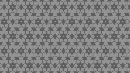 Grey Star Pattern Background Vector Illustration