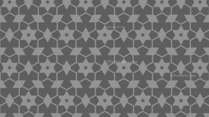 Dark Grey Star Background Pattern Vector