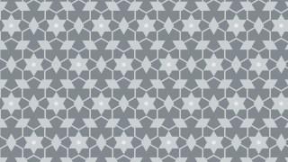 Grey Seamless Star Pattern Vector Art