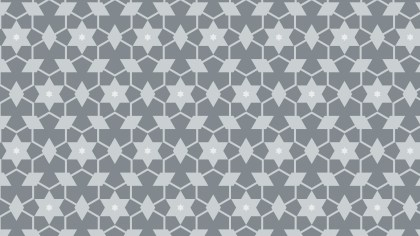 Grey Seamless Star Pattern Vector Art