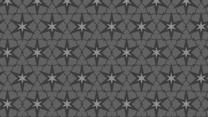 Dark Grey Seamless Star Background Pattern Illustration