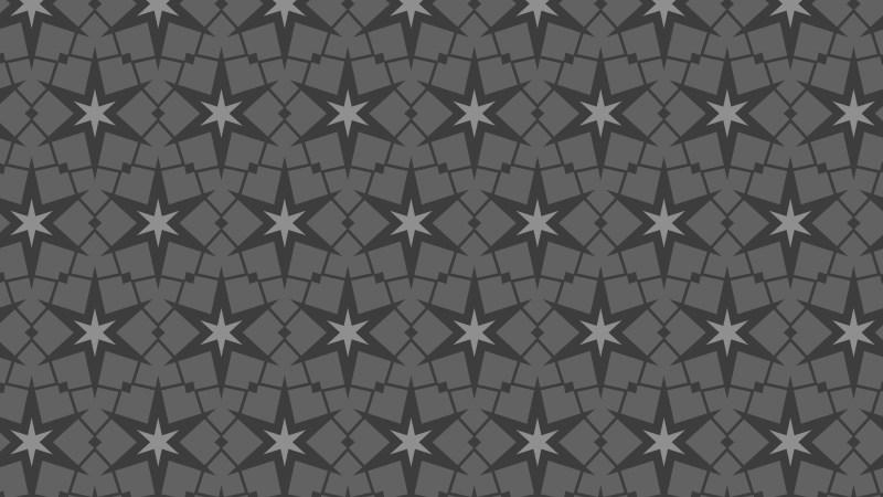 Dark Grey Seamless Star Background Pattern Illustration