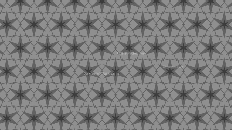 Grey Stars Pattern Design