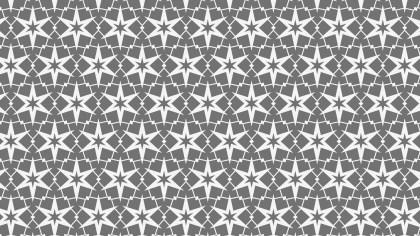 Grey Stars Pattern Background Image