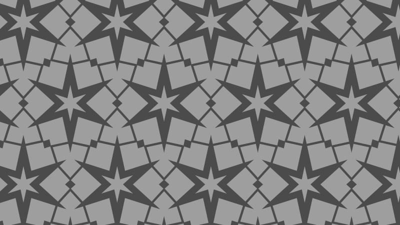 Grey Stars Background Pattern Vector Graphic