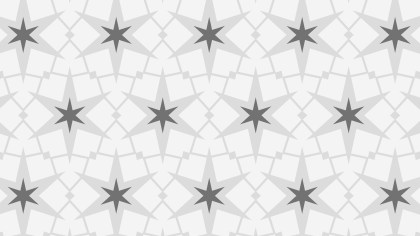 Grey Seamless Stars Pattern Vector Image