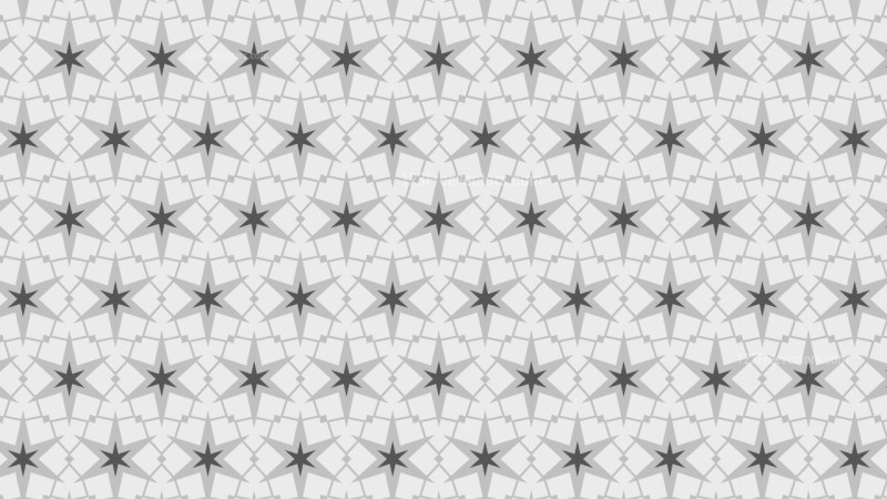 Light Grey Seamless Stars Pattern Background Illustrator