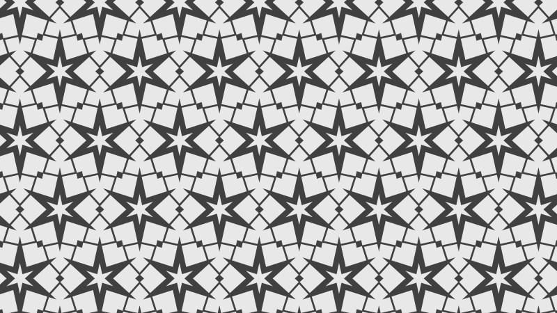 Grey Seamless Stars Background Pattern Vector Illustration