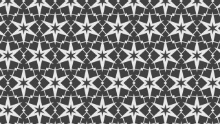 Dark Grey Star Pattern