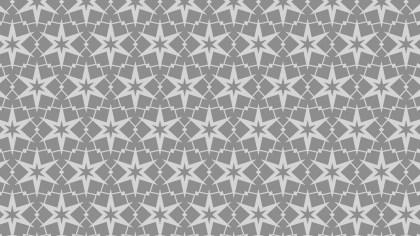 Grey Star Pattern Background