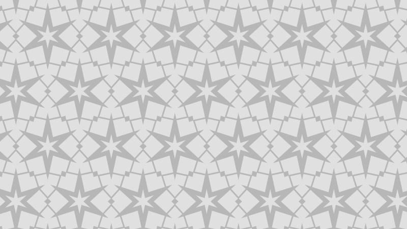Light Grey Seamless Star Pattern Background