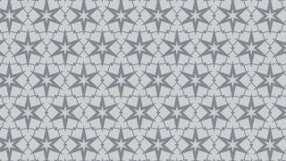 Grey Seamless Star Background Pattern