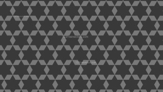 Dark Grey Seamless Stars Pattern Background