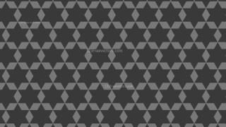 Dark Grey Seamless Stars Pattern Background