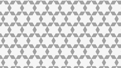 Grey Seamless Stars Background Pattern
