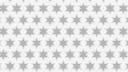 Light Grey Seamless Star Background Pattern Vector Image