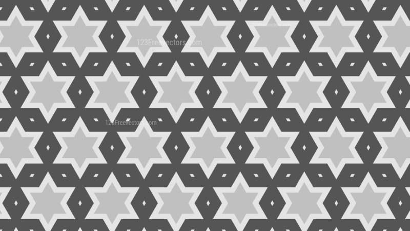 Grey Stars Pattern Illustrator
