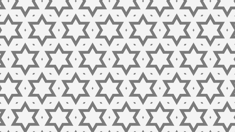 Grey Stars Background Pattern Vector