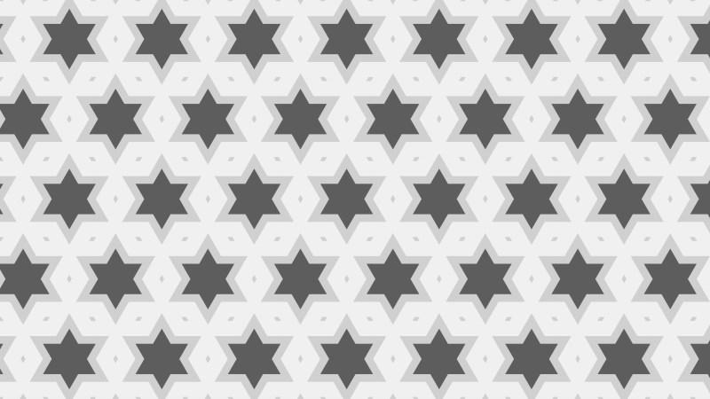 Grey Seamless Stars Pattern Vector Art