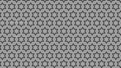 Grey Seamless Stars Pattern Background Graphic