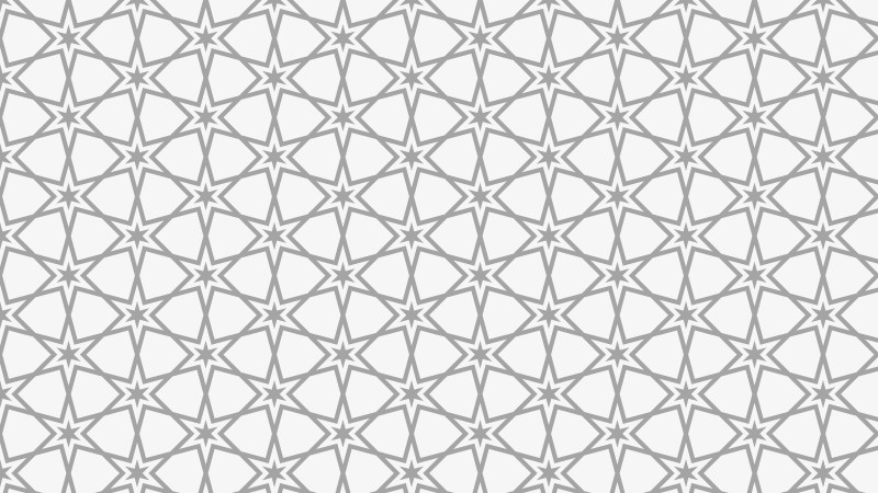 Light Grey Seamless Star Pattern