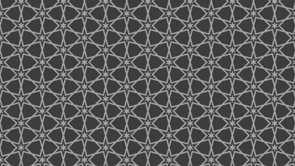 Dark Grey Seamless Star Pattern Background Vector