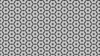 Grey Seamless Stars Pattern Background Vector Graphic